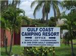 View larger image of Sign at entrance to the park at GULF COAST CAMPING RESORT image #1