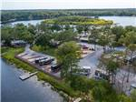 View larger image of Lake view from inside RV at TWIN LAKES CAMP RESORT image #10