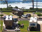 View larger image of Big rigs in sites near the ocean at PACIFIC SHORES MOTORCOACH RESORT image #5