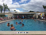 View larger image of Campers playing in crowded community pool at ORANGE HARBOR CO-OP  RV RESORT image #8