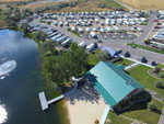 View larger image of Aerial view over campground at CANYON SPRINGS RV RESORT image #2