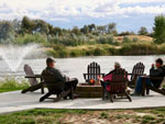 View larger image of Fire pit at the lake at CANYON SPRINGS RV RESORT image #4