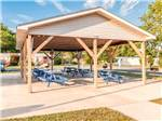 View larger image of Pavilion with picnic tables at SEA AIR VILLAGE MANUFACTURED HOME  RV RESORT image #9