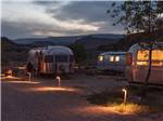 View larger image of View of campsites with Airstream trailers at YONDER ESCALANTE image #11