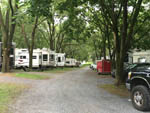 View larger image of Gravel road leading into campground at JONESTOWN AOK CAMPGROUND image #1