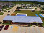 View larger image of Aerial view over campground at MONKEY ISLAND RV RESORT image #7