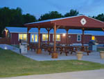 View larger image of Patio area with outdoor seating at MONKEY ISLAND RV RESORT image #12