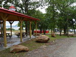 View larger image of Patio area with picnic tables at LITTLE TURTLE RV  STORAGE image #7