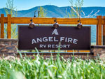 View larger image of Sign at entrance to the park at ANGEL FIRE RV RESORT image #1