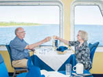 View larger image of Couple dinning on boat at OWEN SOUND TRANSPORTATION COMPANY image #5