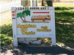 View larger image of Sign leading into campground at ARABIAN RV OASIS image #1