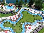 View larger image of Pool bar and lazy river at REUNION LAKE RV RESORT image #1