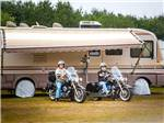 View larger image of RV and men riding motorcycles at OCEANA CAMPGROUND image #5