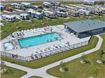 View larger image of Aerial view of pool area at EASTPOINTE RV RESORT image #6