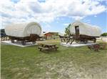 View larger image of Patio area with outdoor seating at THE VINEYARDS AT FREDERICKSBURG RV PARK image #5