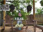 View larger image of Swimming pool with outdoor seating at ALL ABOUT RELAXING RV PARK image #3
