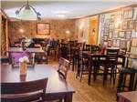 View larger image of Inside of the restaurant at THE HEMLOCKS RV AND LODGING image #3