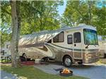 View larger image of Big rig in a shady site at RIVEREDGE RV PARK  CABIN RENTALS image #10