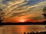 View larger image of Sunset view over lake at CLAY COUNTY MISSOURI image #4