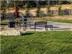 View larger image of Patio area with picnic table at BERRY CREEK RANCHERIA RV PARK image #7