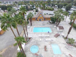 View larger image of Aerial view of pool area at CATHEDRAL PALMS RV RESORT image #3