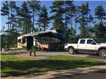 View larger image of Trailer camping at MANISTIQUE LAKESHORE CAMPGROUND image #9