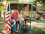 View larger image of Kids going fishing at SPLASHWAY WATERPARK  CAMPGROUND image #1