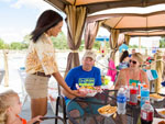 View larger image of Dining area outside at SPLASHWAY WATERPARK  CAMPGROUND image #12