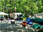 View larger image of Trailers and tents camping at TUXBURY POND RV RESORT image #4