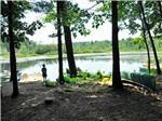View larger image of Boy fishing on lake at TUXBURY POND RV RESORT image #5