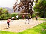 View larger image of Campers playing volleyball at SOLEDAD CANYON RV  CAMPING RESORT image #6