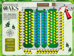 View larger image of Campground map at EVANGELINE OAKS RV PARK - IOWA image #4