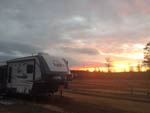 View larger image of 5th wheel at sunset at BROAD RIVER CAMPGROUND  RV PARK image #5