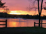 View larger image of Water feature on lake at sunset at LAKE SCH-NEPP-A-HO FAMILY CAMPGROUND image #1