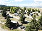 View larger image of Drone view of spacious RV sites at FAIRMONT RV RESORT image #9
