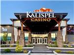 View larger image of The covered front entrance at KALISPEL RV RESORT image #1
