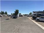 View larger image of Paved roads with RV parked in sites at DESERT SANDS RV PARK image #3