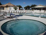View larger image of The hot tub and pool area at RIDGECREST RV RESORT image #3