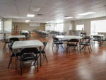 View larger image of Inside of the recreation hall at RIDGECREST RV RESORT image #7
