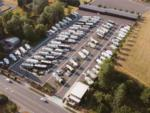 View larger image of A row of RV sites with RVs parked at CLARK COUNTY FAIRGROUNDS RV PARK AND STORAGE image #3