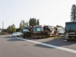 View larger image of The clean restrooms with tile at CLARK COUNTY FAIRGROUNDS RV PARK AND STORAGE image #5