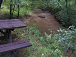 View larger image of Picnic table next to the creek at JENNYS CREEK FAMILY CAMPGROUND image #5