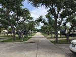 View larger image of View of concrete sites with grass areas planted with trees at LAGOONS RV RESORT image #6