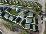 View larger image of An aerial view of the waterfront cabins at BIG ARM RESORT  MARINA image #2