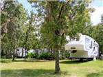 View larger image of RV nestled in the trees at ROCK CRUSHER CANYON RV RESORT image #2