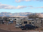 View larger image of RVs with mountain view at TOMBSTONE TERRITORIES RV RESORT image #6