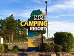 View larger image of Sign at entrance of RV park at NET CAMPING RESORT image #9