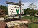 View larger image of Sign at entrance of RV park at PECULIAR PARK PLACE image #2