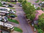 View larger image of An aerial view of the RV sites at THE GREAT OUTDOORS RV RESORT image #3