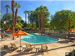 View larger image of Resort buildings and palm trees at EMERALD DESERT RV RESORT - SUNLAND image #9